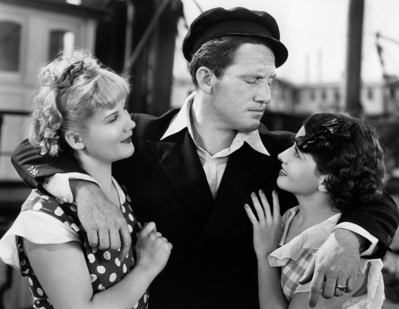 Spencer Tracy with Judith Wood and Dorothy Appleby