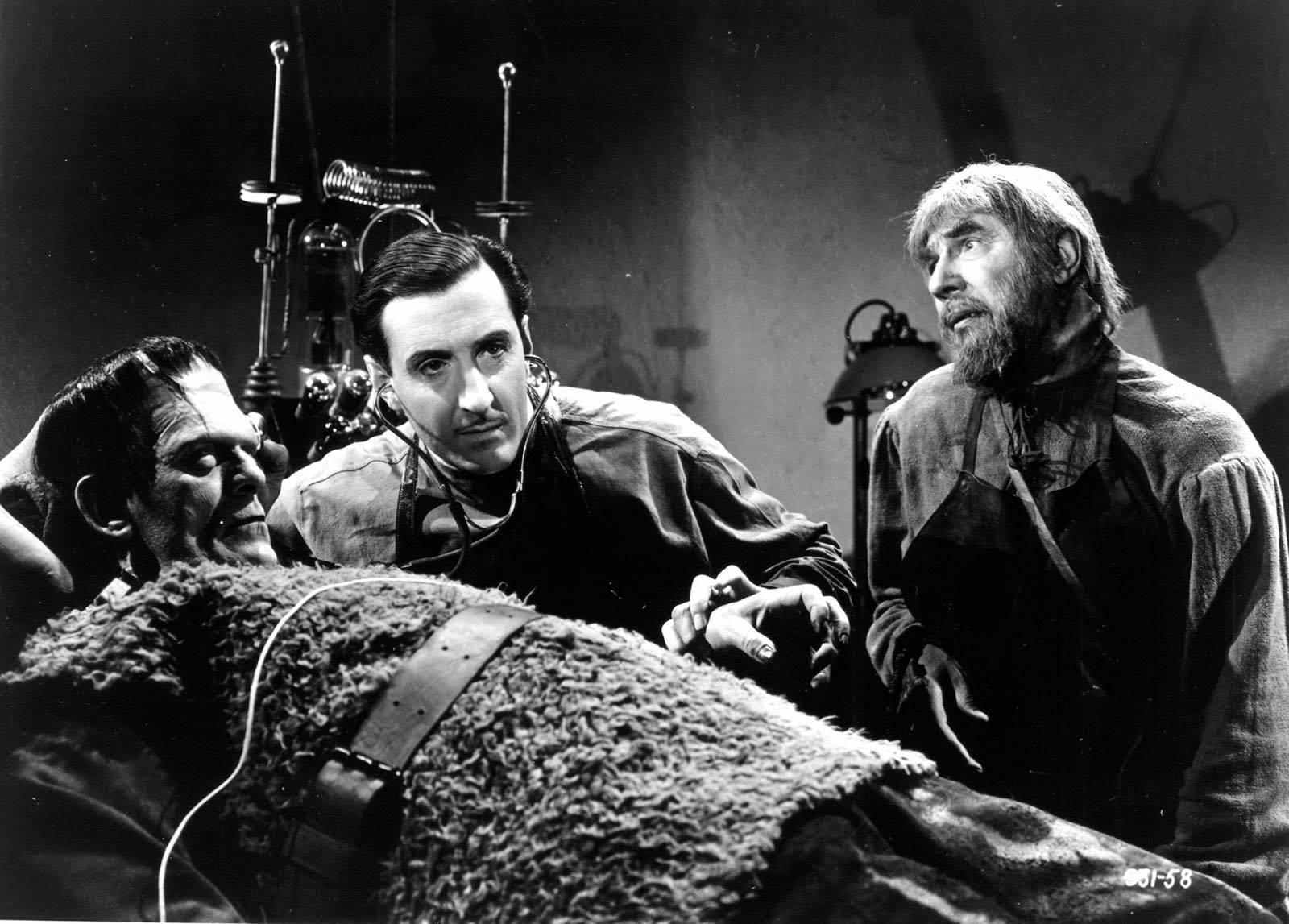 Basil Rathbone, Boris Karloff & Béla Lugosi