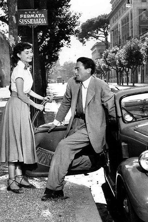 Audrey e Gregory Peck