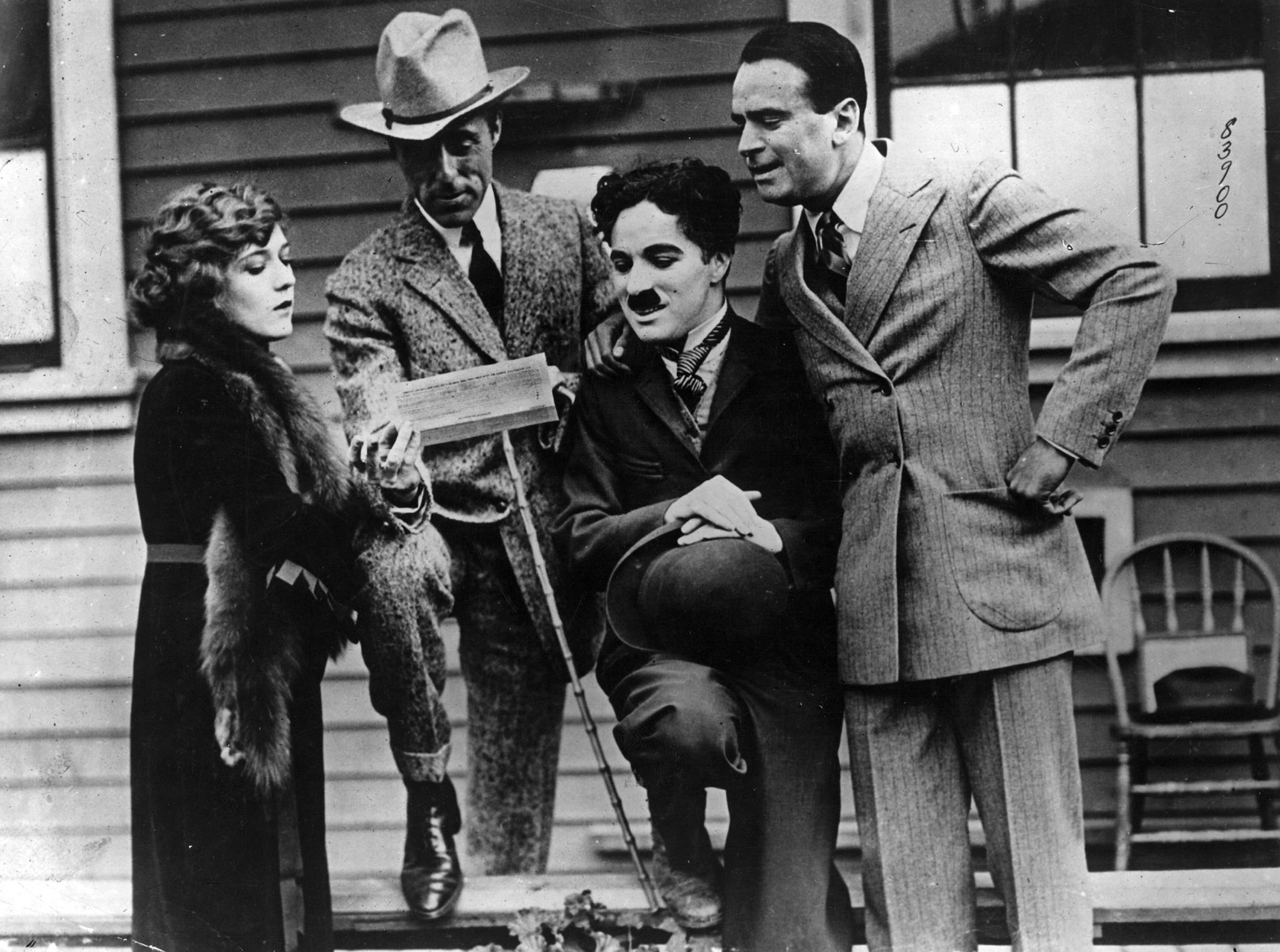 Charlie Chaplin (Official), Douglas Fairbanks, Mary Pickford & D.W. Griffith