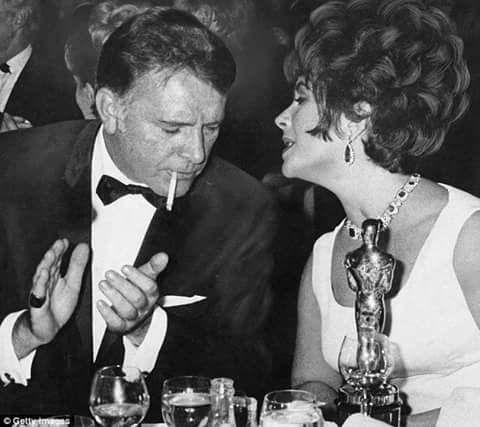 Elizabeth Taylor and Richard Burton at the Oscars, 1967