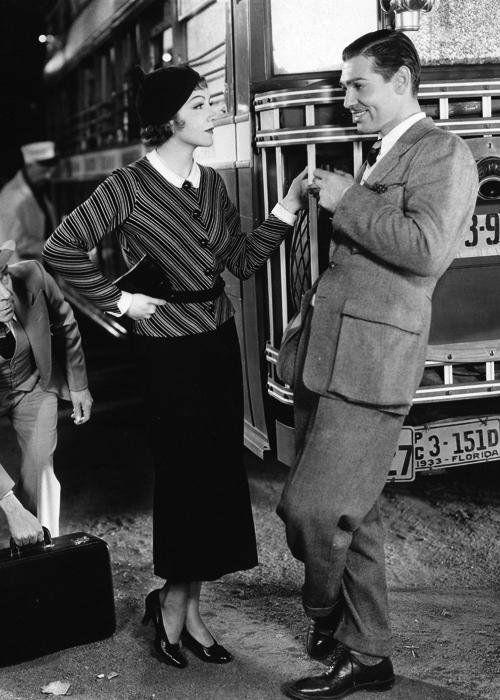 Claudette Colbert & Clark Gable -It Happened One Night(1934)