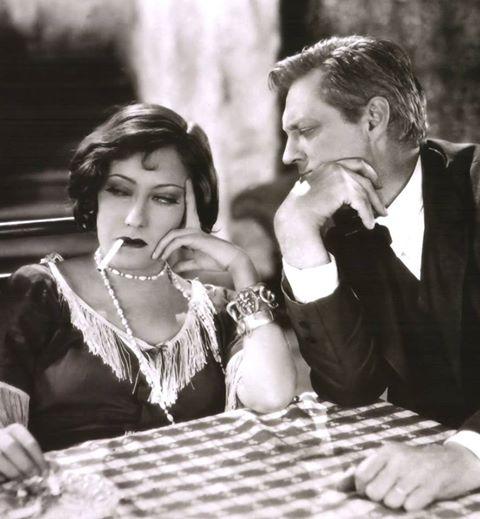 Lionel Barrymore & Gloria Swanson