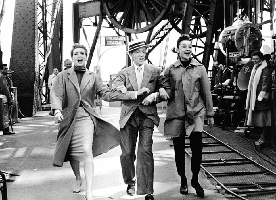 Audrey Hepburn, Fred Astaire and Kay Thompson