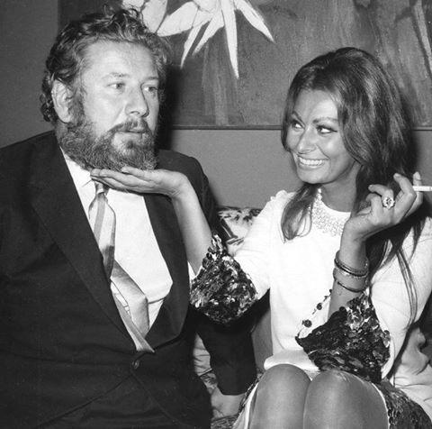 Peter Ustinov with Sophia Loren