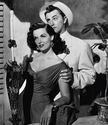 Robert Mitchum e Jane Russell