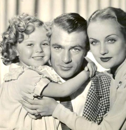 Shirley Temple with Gary Cooper and Carole Lombard