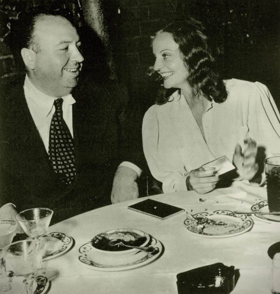 Alfrted Hitchcock and Tallulah Bankhead