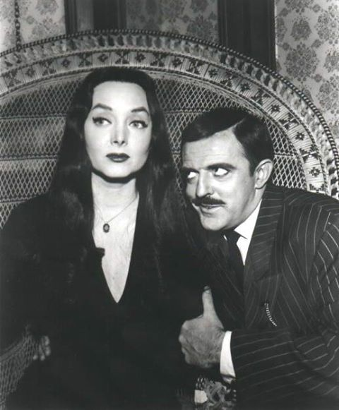 Carolyn Jones with John Astin