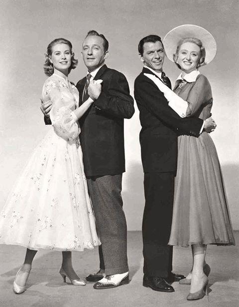 Grace Kelly, Bing Crosby, Frank Sinatra and Celeste Holm