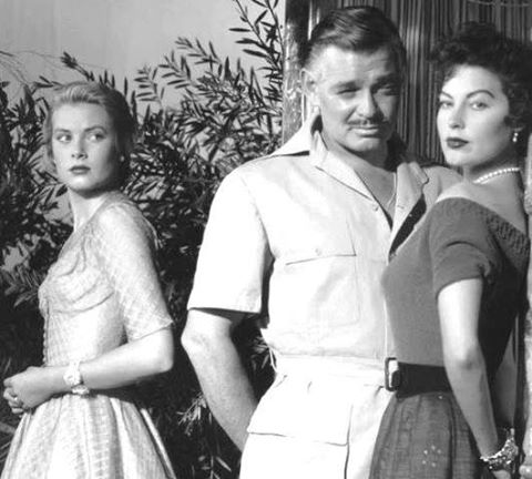 Grace Kelly with Clark Gable and Ava Gardner