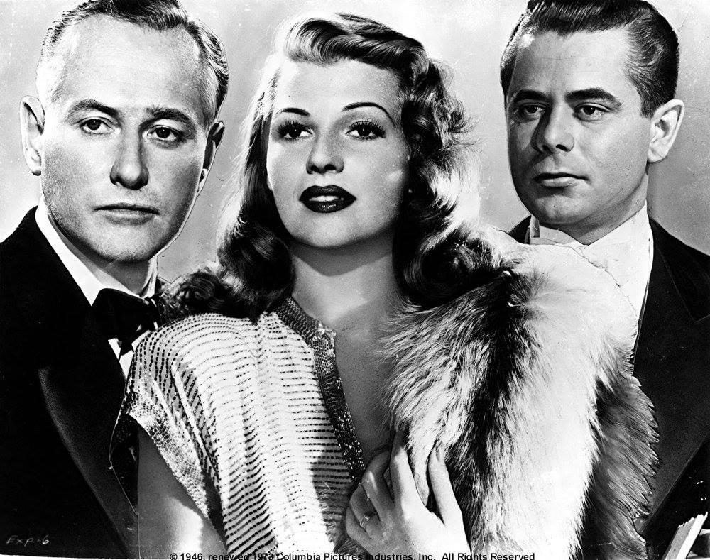Glenn Ford, Rita Hayworth e George Macready