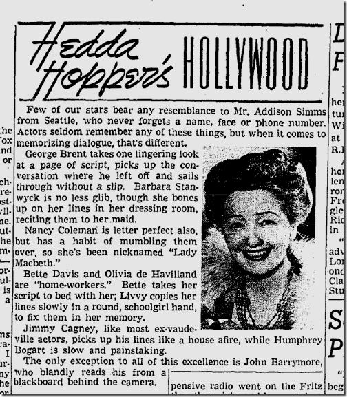 Hedda Hopper!