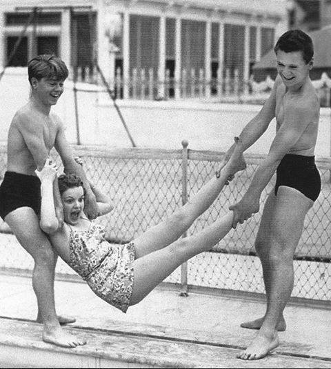 Mickey Rooney, Judy Garland, and Jackie Cooper