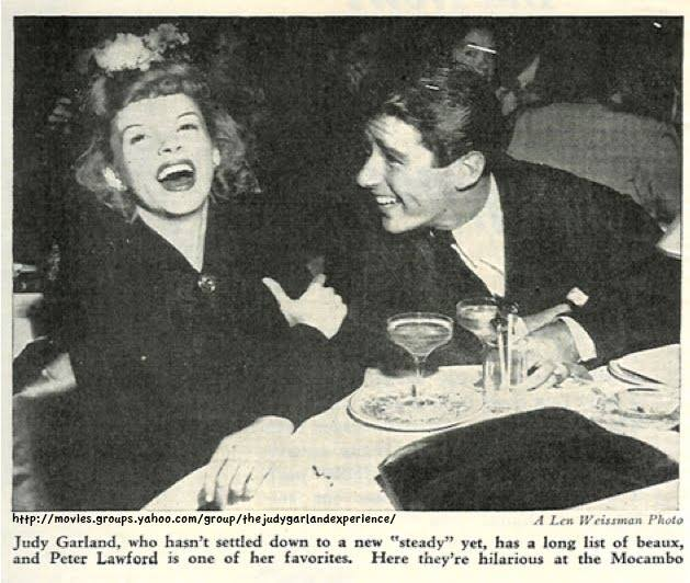 Judy Garland and Peter Lawford