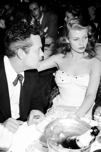 Orson Welles with his lovely wife Rita Hayworth -1945