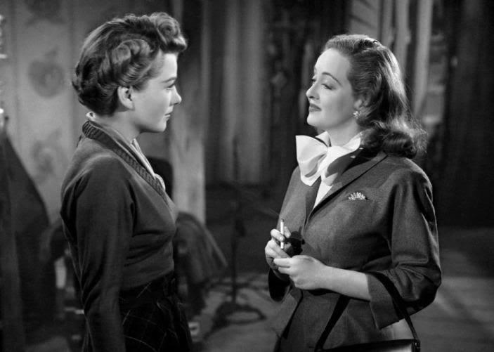 Anne Baxter and Bette Davis
