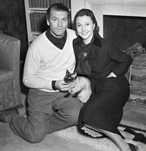Laurence Olivier and his wife Vivien Leigh
