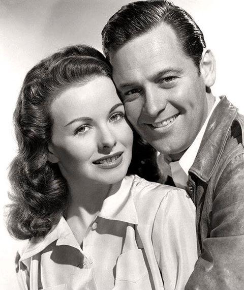 William Holden & Jeanne Crain