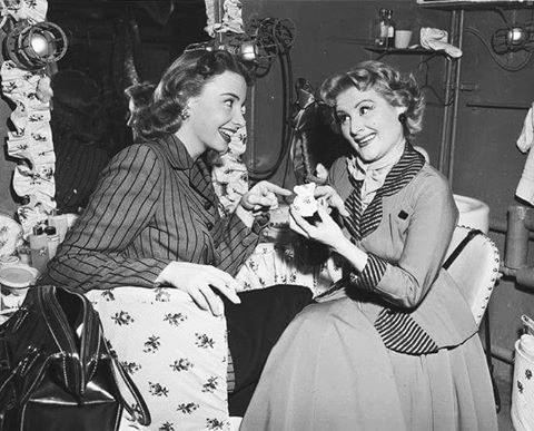 Audrey Meadows and Rose Marie