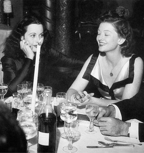 Hedy Lamarr & Myrna Loy