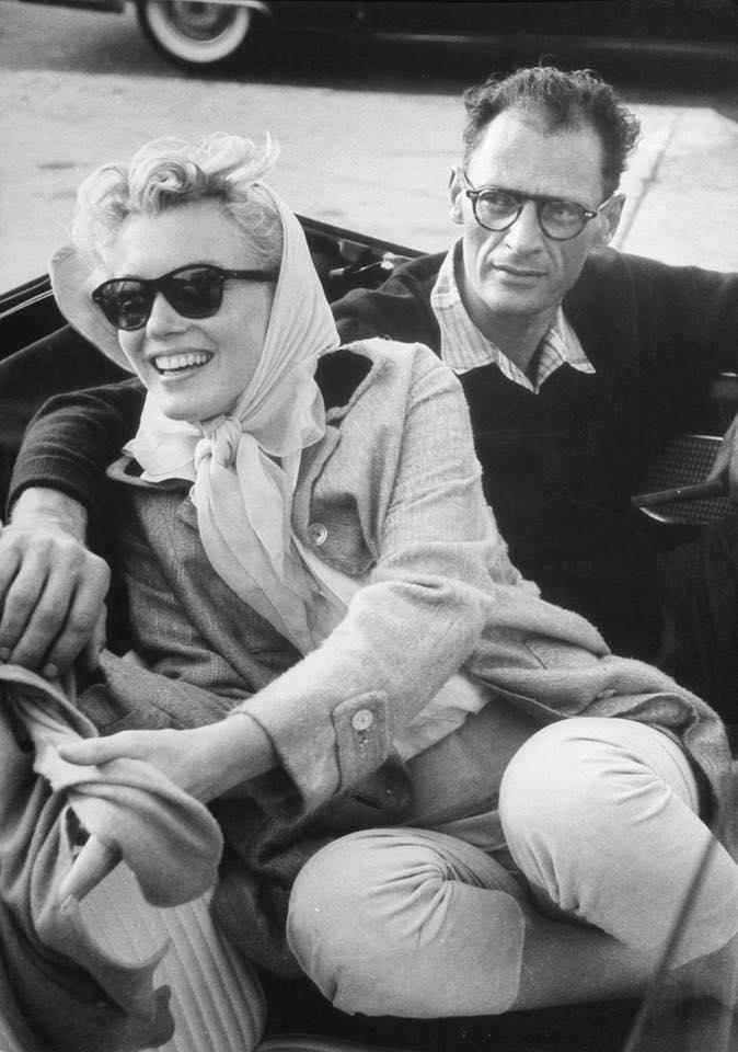 Marilyn Monroe and new husband Arthur Miller,