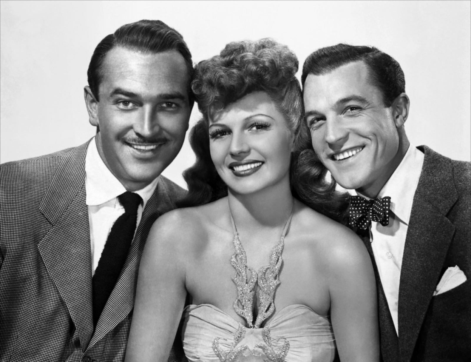 Gene Kelly (L to R) Lee Bowman,Rita Hayworth