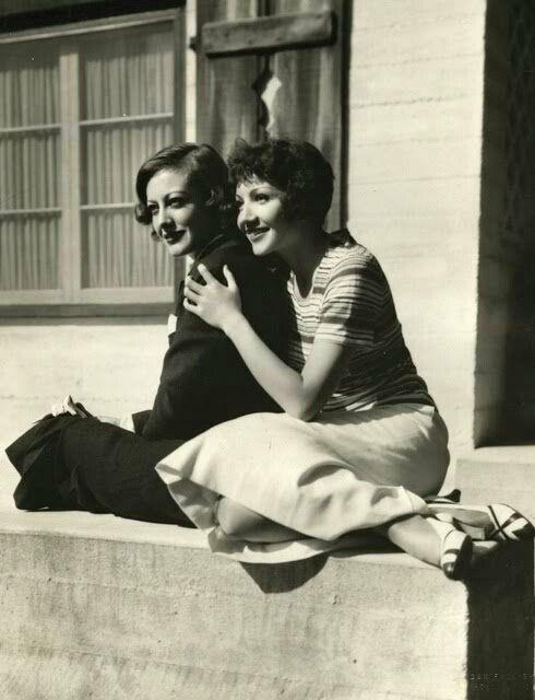 Joan Crawford & Claudette Colbert