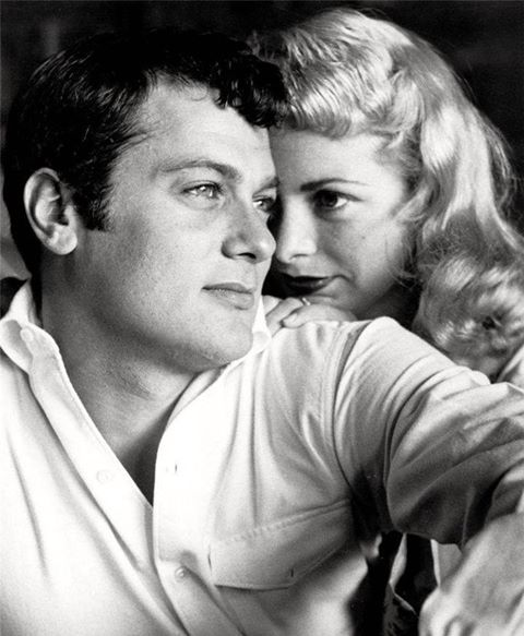 Tony Curtis with his first wife Janet Leigh