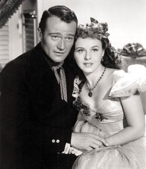 John Wayne & Paulette Goddard