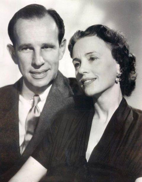 Jessica Tandy with her husband Hume Cronyn