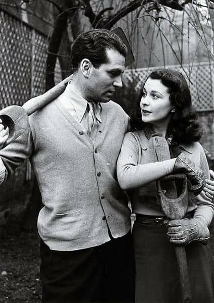 Sir Laurence Olivier and his wife Vivien Leigh