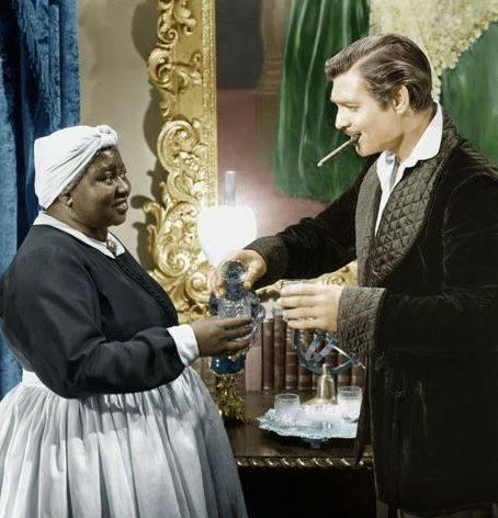 Hattie McDaniel with Clark Gable