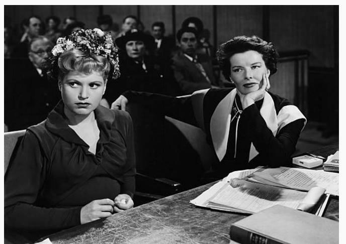Doris Attinger and Judy Holliday.