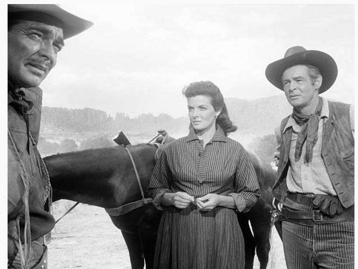 Clark Gable, Jane Russell and Robert Ryan