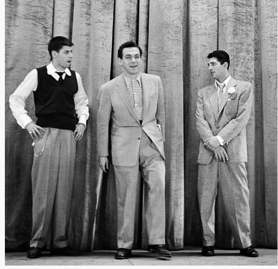 Jerry Lewis, Jack Carter, Dean Martin