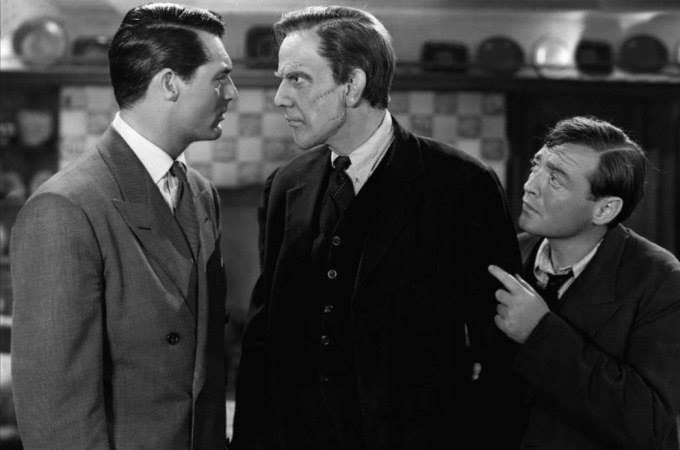 "Cary Grant, Raymond Massey and Peter Lorre in ""Arsenic and Old Lace"""