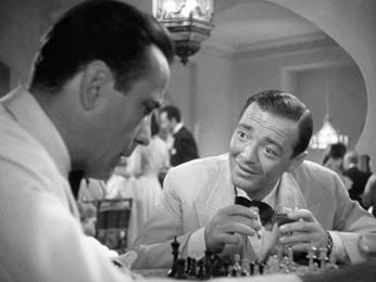 Humphrey Bogart and Peter Lorre in