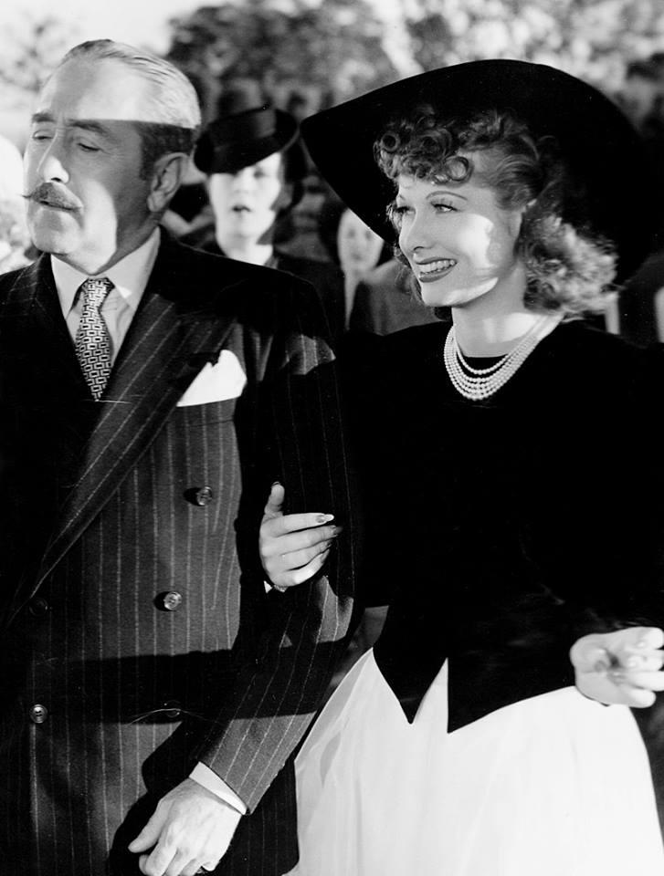 Adolphe Menjou & Lucille Ball