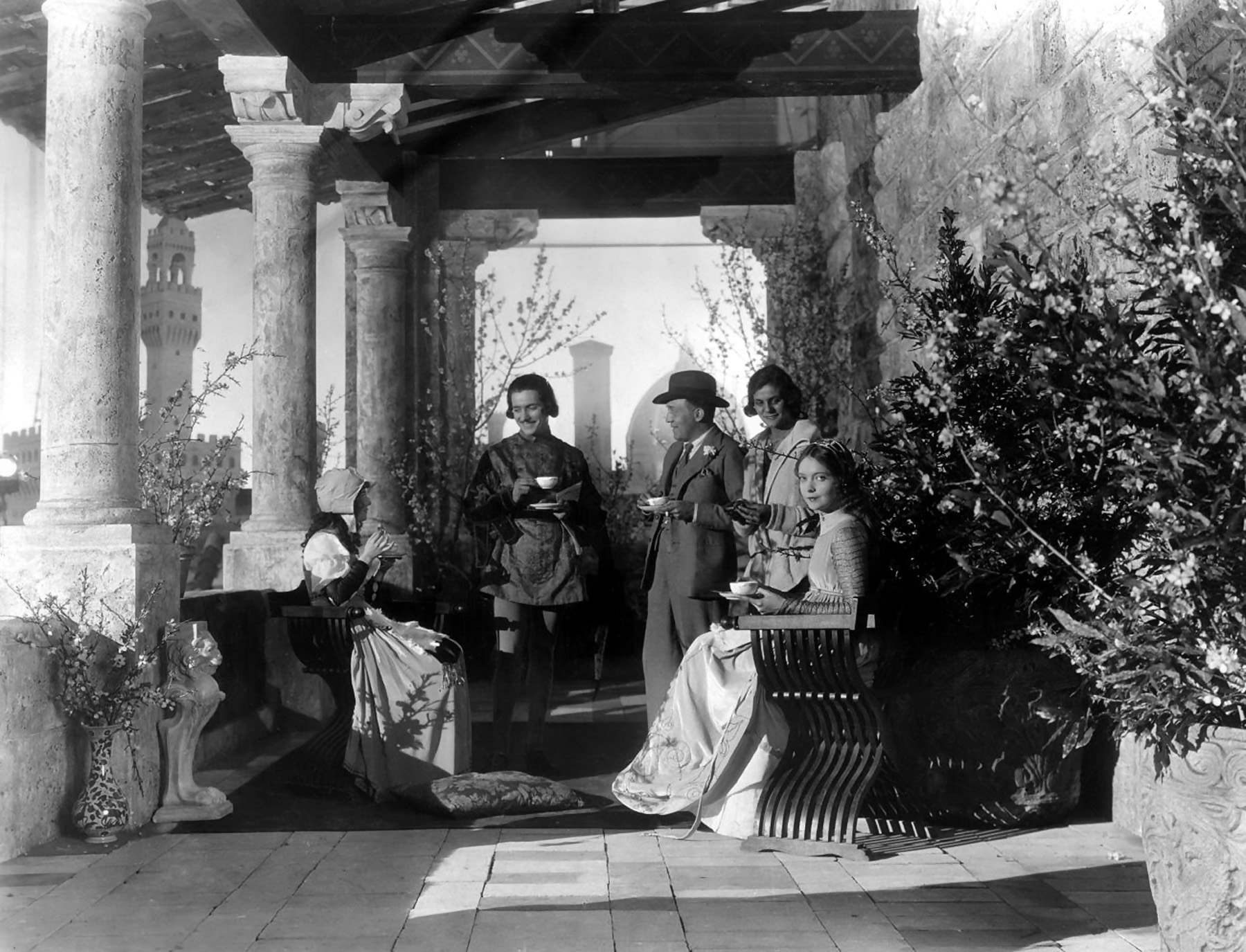 Lillian Gish with  Dorothy Gish,Ronald Colman Henry King and Unknown.