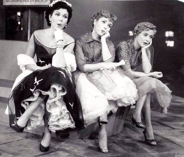 Ann Miller, Debbie Reynolds, and Jane Powell in Hit the Deck (musical)