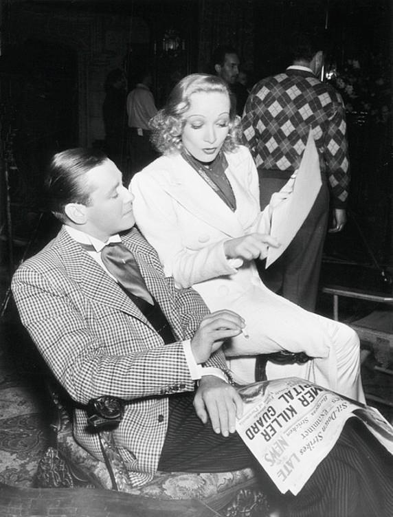 Herbert Marshall & Marlene Dietrich