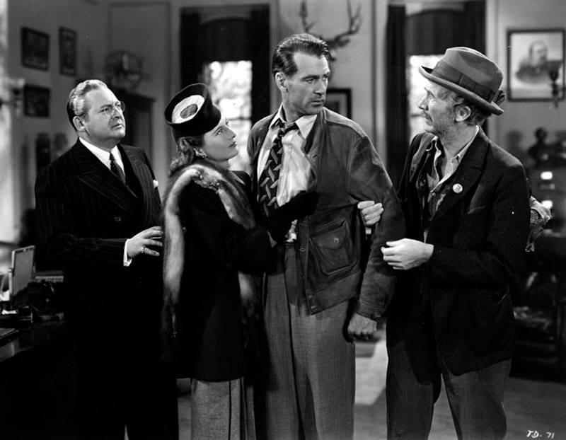 Edward Arnold, Barbara Stanwyck, Gary Cooper & Walter Brennan