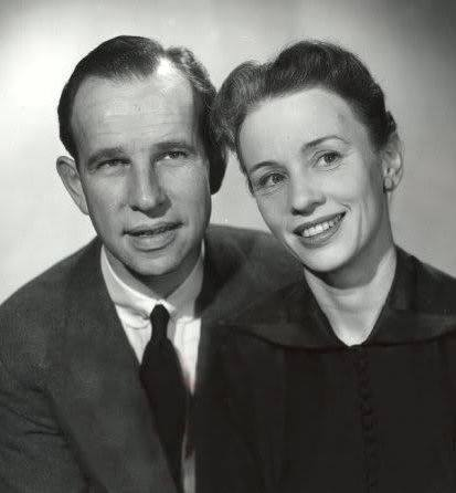 Hume Cronyn with his wife Jessica Tandy