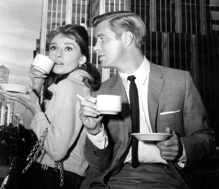 George Peppard & Audrey Hepburn