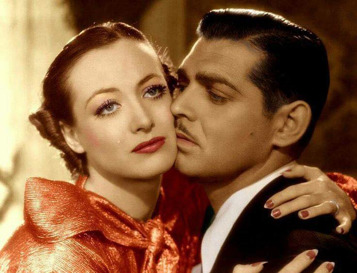 Joan Crawford and Clarke Gable