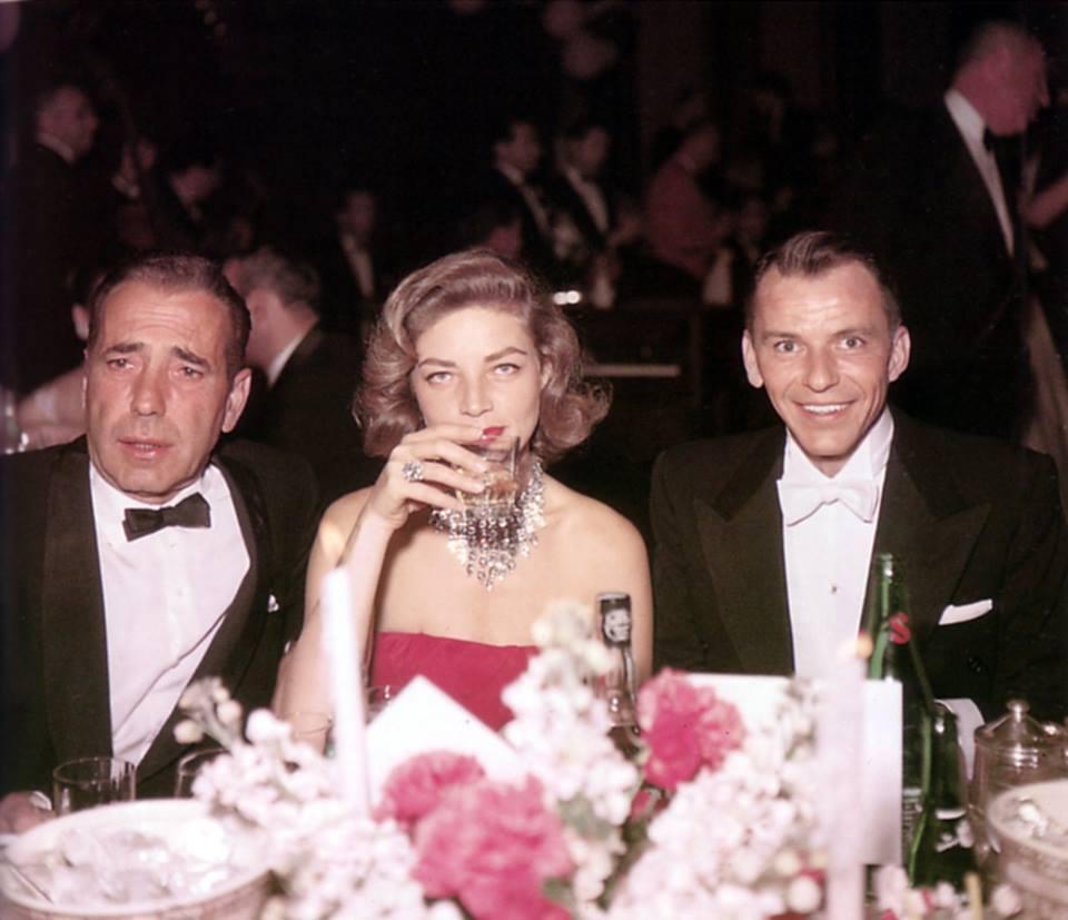 Humphrey Bogart, Lauren Bacall, and Frank Sinatra