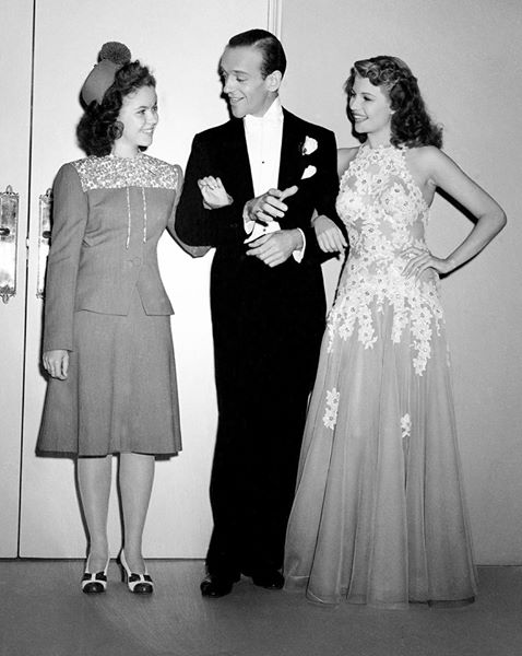 Shirley Temple visits Fred Astaire & Rita Hayworth on the set of You Were Never Lovelier -1942