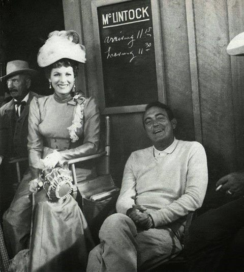 Andrew V. McLaglen with Maureen O'Hara