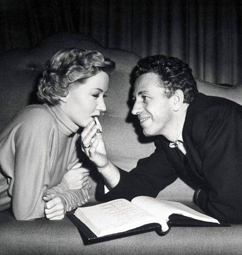 Nicholas Ray with his wife Gloria Grahame